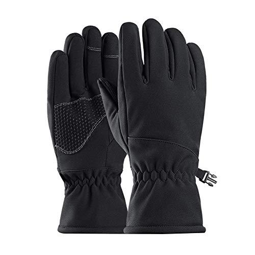 Keptfeet Skihandschuhe Reithandschuhe Winddicht Wasserdichte Touchscreen Handschuhe Plüsch Warme Vollfingerhandschuhe für Männer Frauen