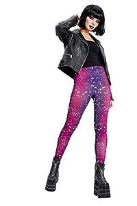 Smiffys 50848XS - Mallas para mujer (talla XS), diseño de estampado galáctico, color morado