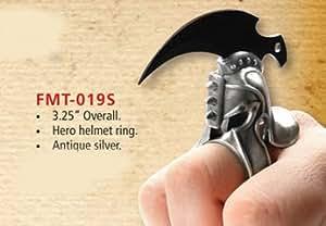 300 - Bague couteau casque chevaliere Roi de Sparte - FM020G