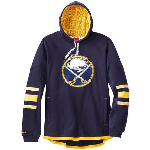 Buffalo Sabres Reebok NHL 2013 Edge Team Jersey Maglia Pullover Hooded Sweatshirt camicia