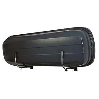 LANCO Automotive Wandhalter Space Pro | LI-1301 | Zwei Stück Stabile Ausführung | Einfache Montage | Platzsparend Einklappbar | Made in EU, Chrom / Schwarz, Set of 2