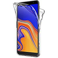 AICEK Funda Samsung Galaxy J4 Plus, Transparente Silicona 360°Full Body Fundas para Samsung