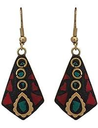 ZIKU JEWELRY Non-Precious Metal Tibetan Style Dangle and Drop Hook Earrings for Girls and Women