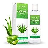 Elobara Aloe Vera Gel 100% Bio für Gesicht Haare und Körper Natürliche, beruhigende und pflegende Feuchtigkeitscreme Ideal für trockene strapazierte Haut & Sonnenbrand
