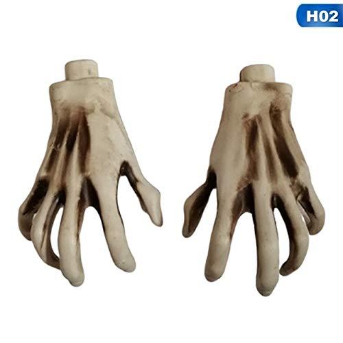Klaue Kostüm Dunkle - KBWL Halloween Skelett Hand Klaue Skelett Hexe/Geist/Skelett Streich Skelett Klaue für Haunted House Horror Requisiten Party Decor 02