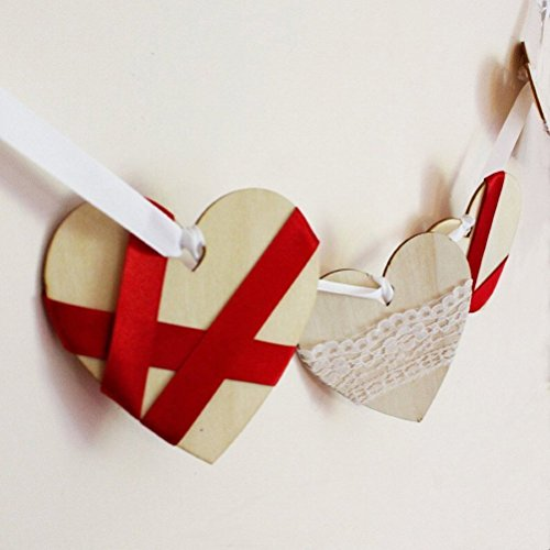 Pixnor 50 Plain Wooden Heart Shape Craft Tags Plaques Decorative 100mm