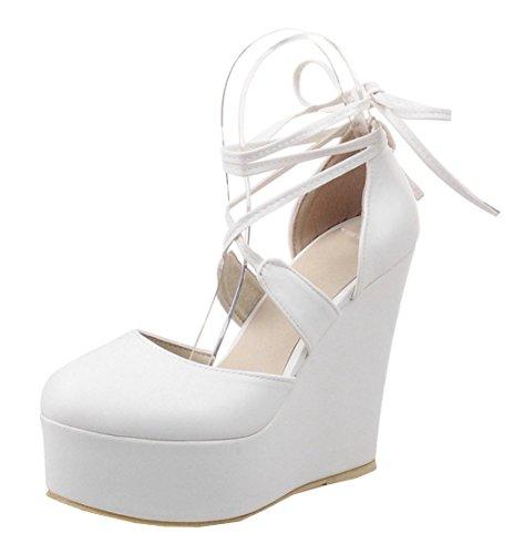 YE , chaussures compensées femme Weiß