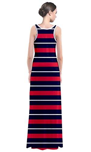 CowCow - Robe - Femme Multicolore Noir et blanc bleu et rouge