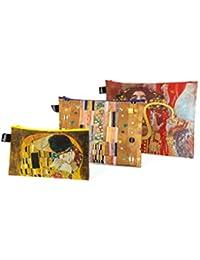 LOQI Museum Gustav Klimt Zip Pockets