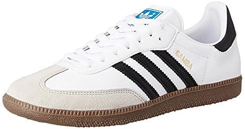 adidas Samba G17102 Herren Sneaker, Weiß (white / black 1 / gum5), Gr.45 1/3 EU