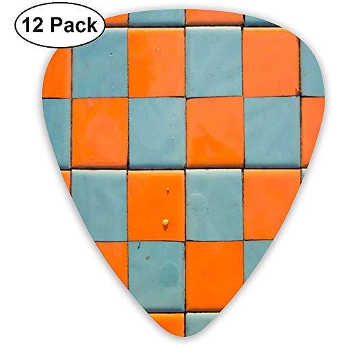 Tablero ajedrez Azul Naranja Patrón sin costuras