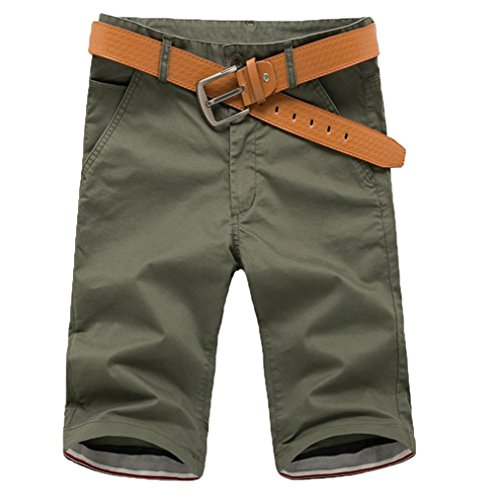 Shorts Herren Sommer LHWY Männer Sport Atmungsaktiv Hosen Kurz Freizeithose Knielang Fitness Laufhose Tasche Streetwear Overalls Teens Jungs (3XL, Army Green)