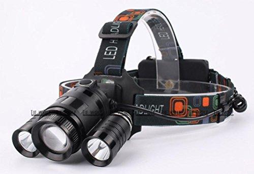 Neue Led Scheinwerfer Licht Ladung Super Helle Nacht Angeln Lichter Angeln Lichter T6 Headset Taschenlampe Bergmann Lampe , Black,black (Laterne-ring-farben)
