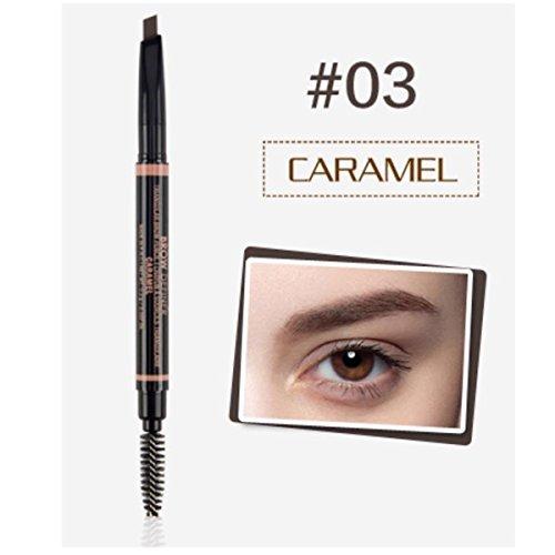O.TWO. O 6037 Serie wasserdicht Augenbraue automatische Bleistift Damen Braue Eye Definer mit Augenbrauen Pinsel Werkzeuge 6 Farben Pack 1 - Standard-serie Eye