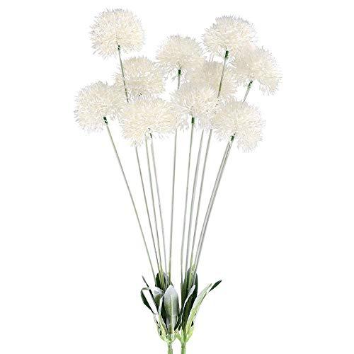 Vera-lavendel-kollektion (GTIDEA 71,1 cm künstliche Pusteblumen-Blumen für den Außenbereich, Kunstpflanzen, Sträucher, Sträucher, Bauernhof, Haus, Terrasse, verzinkt, Milchkännchen, Dekoration, 2 Stück)