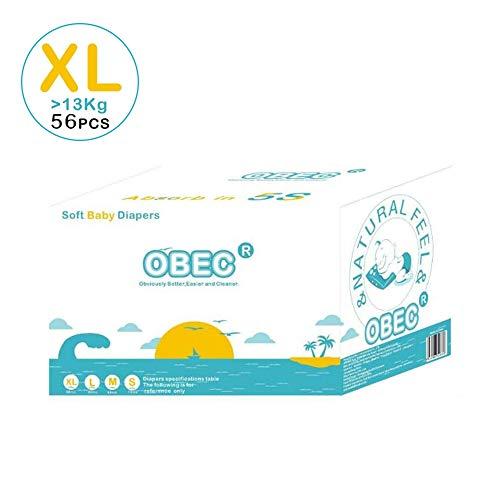 Mhxzkhl Bebé-Seco - Pañales para bebé con Canales de Aire, 13 kg, 56 pcs Pañales