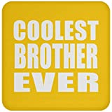 Best Ever Big Brothers - Designsify Coolest Brother Ever - Posavasos, Antideslizante, Parte Review