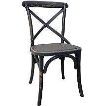 Antic Line Crations Chaise De Bistrot En Bois Vieilli