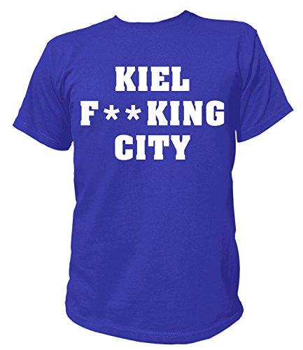Artdiktat Herren T-Shirt - Kiel Fucking City Größe XXL, Blau