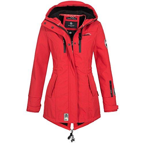Marikoo ZIMTZICKE Damen Jacke Softshelljacke Winterjacke Regenjacke Outdoor XS-XXL 8-Farben, Größe:S, Farbe:Rot