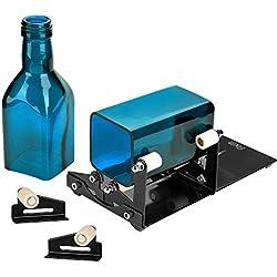 FIXM Kit coupe-bouteille carré et rond avec outil d'accessoires, convient pour une utilisation technique, decoration, DIY pour bouteilles rondes et carrées