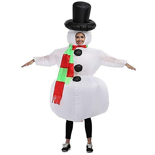 DishyKooker - Disfraz de muñeco de Nieve para Adulto