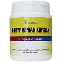 Preisvergleich für L-Tryptophan 500mg - 120 Kapseln - hochdosiert - Nahrungsergänzung - Made in Germany - Pro Natural