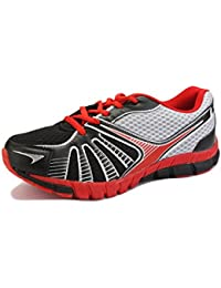 Yepme Men's Red & Black Rexine Sports Shoes
