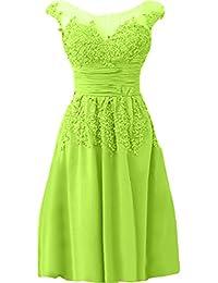 Elegante vestido de noche para mujer Ivydressing, con cuello redondo y franja de gasa en