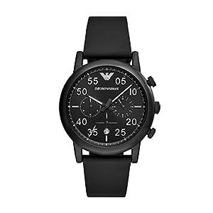Emporio Armani Reloj Cronógrafo para Hombre de Cuarzo con Correa en Cuero AR11133