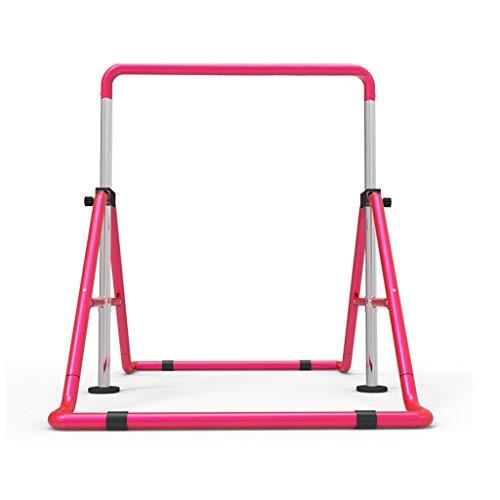 Dip-Stationen Faltbare Horizontale Leiste Für Kinder Turnstäbe Fitnessgeräte Für Kinder Einstellbare Junior Trainingsstange Kinderschaukel Das Lieblingsgeschenk Für Kinder ( Color : Pink , Size : A )