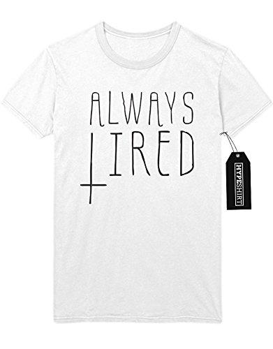 T-Shirt ALWAYS Tired F493994 Weiß