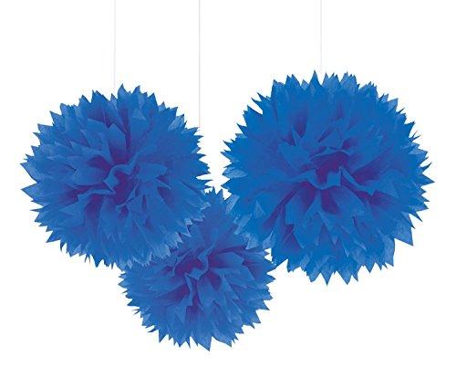 """Deckenhänger """"Einfarbige Blüte aus Papier"""" 3er Pack blau Preisvergleich"""