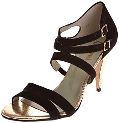 Beyond Skin Women's Ebony Special Occasion Sandal Black Faux Suede 20289 5 UK