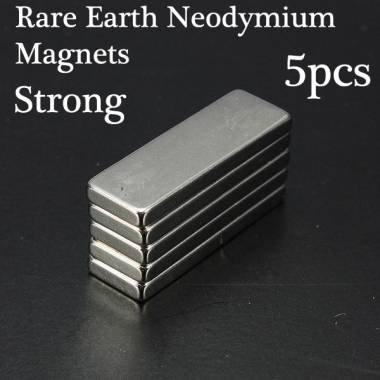 free-shipping-set-of-5-rare-earth-neodymium-strong-magnets-n35-30x10x3-mm-cubic-block-party-5pcs-rar