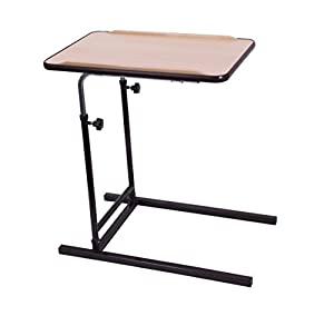 Drive Medical Langton Over Bed/Chair Table - Height/Tilt Adjustable