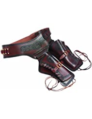Revolver Belt Wild West con 22 Replica-Bullets y dos Holsters