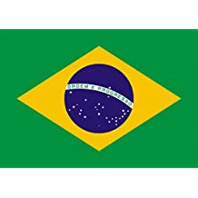 Gran Bandera Brasil 150 x 90 cm Satén Brazil Flag Durabol.