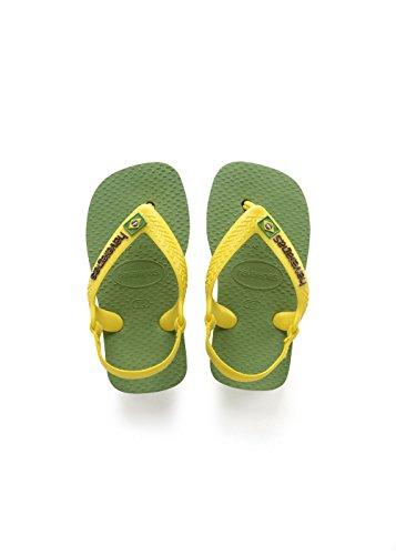 Havaianas Unisex Baby Brasil Logo II Sandalen, Grün (Green Bamboo), 27/28 EU (25/26 Brazilian)