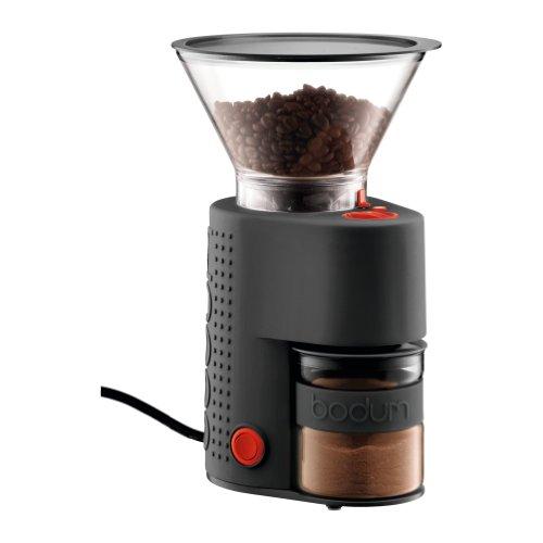 Bodum Elektrische Kaffeemühle Bistro (Kegelmahlwerk, Verschiedene Mahlstufen, 160-Watt) schwarz