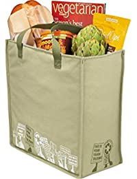 """Pack Of 3-Trash Talking Recycled Shopper Tote Eco-friendly Reusable Bag Non Woven Grocery Tote Bag 15""""H X 13""""W..."""