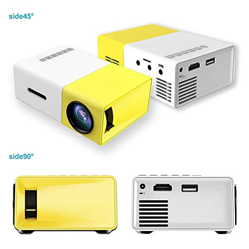 Portable LED Projector Home Cinema Connect To PC Laptop USB For Movie TV Show Karaoke Video Game