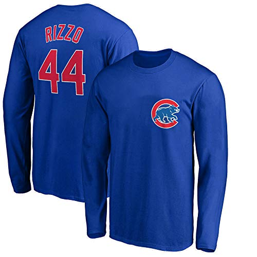 Outerstuff MLB Youth 8-20 Team Color Player Name und Nummer Langarm Jersey T-Shirt, Jungen, Anthony Rizzo Chicago Cubs Blue, X-Large 18/20 US -
