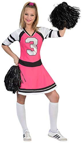 Kostüm Baby Cheerleader - Karneval-Klamotten Cheerleader Kostüm Damen pink schwarz weiß Damen-Kostüm Cheerleader-Kleid Karneval Größe 36/38