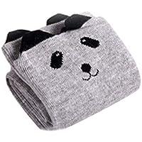 BESTOYARD Baby Kniestrümpfe Kinder Niedliche Overknee Strümpfe Unisex Baumwolle bequem Socken (Grau Bär)