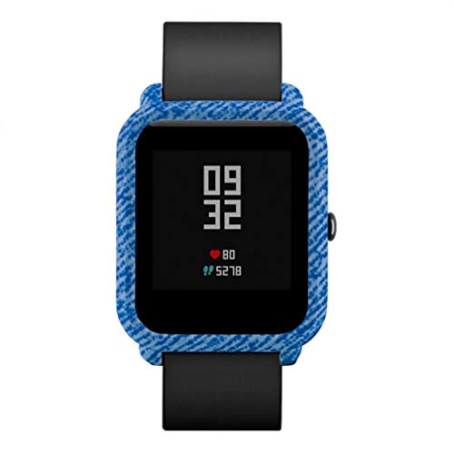 Bestow Xiaomi Huami Amazfit Bip Reloj para j¨®venes patr¨®n Funda de Piel para PC Proteger Shell Edici¨®n Juvenil Reloj Concha Protectora F