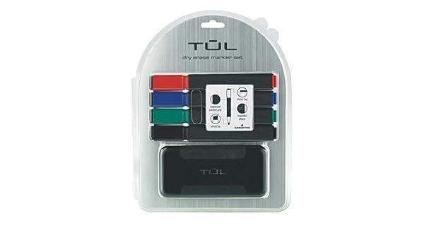 Tul Dry Erase Organizer Set Chisel Assorted 4 Pk Eraser