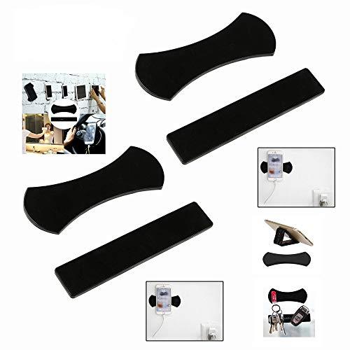 MeetRade Handy-Pads, Handy-Ständer, Handyhalterung für Auto, Gel-Pads, Handy-Pads, Universal-Sticker, multifunktionale Handyhalterung, klebrige Anti-Rutsch-Matten (4 Stück)