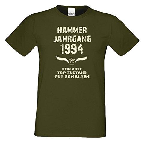 Modisches 23. Jahre Fun T-Shirt zum Männer-Geburtstag Hammer Jahrgang 1994 Ideale Geschenkidee zum Jubeltag Farbe: khaki Khaki
