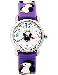 Arroyo Sports Gift 3D Cute Cartoon Digital Silicon Wristwatches Time Teacher Gift For Little Girls Boys Kids Children...